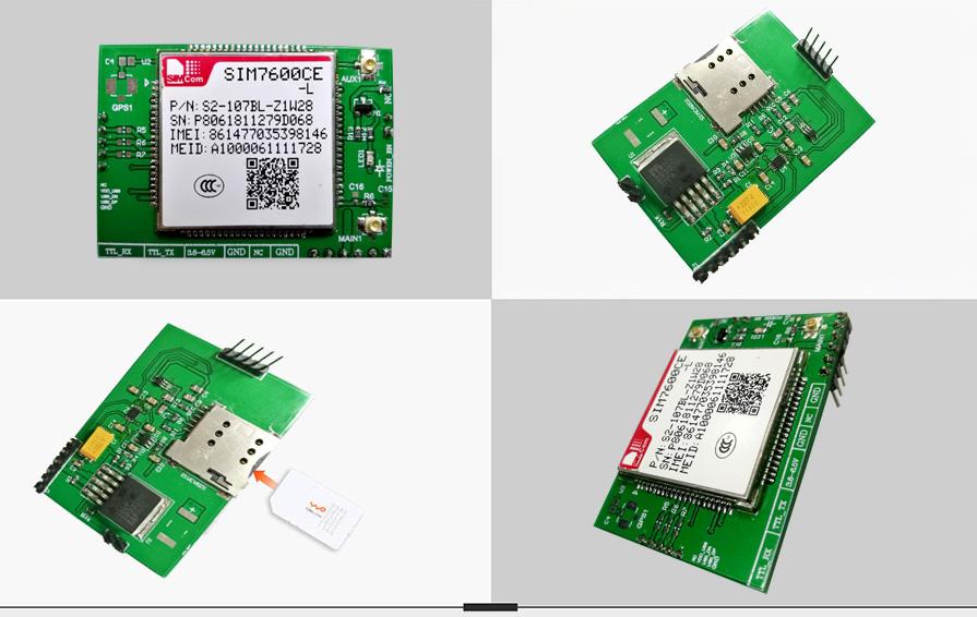 2G、4G透传模块串口转4G模块嵌入式DTU SIM7600CE-T双向透传